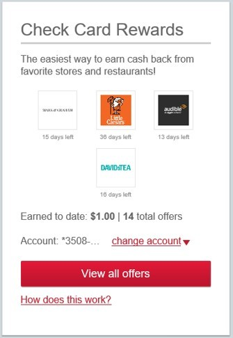 Visa Check Card Rewards Purchase Rewards Step 2 Click