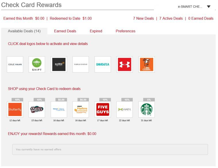 Purchase Rewards for Visa Check Card Rewards Step 5
