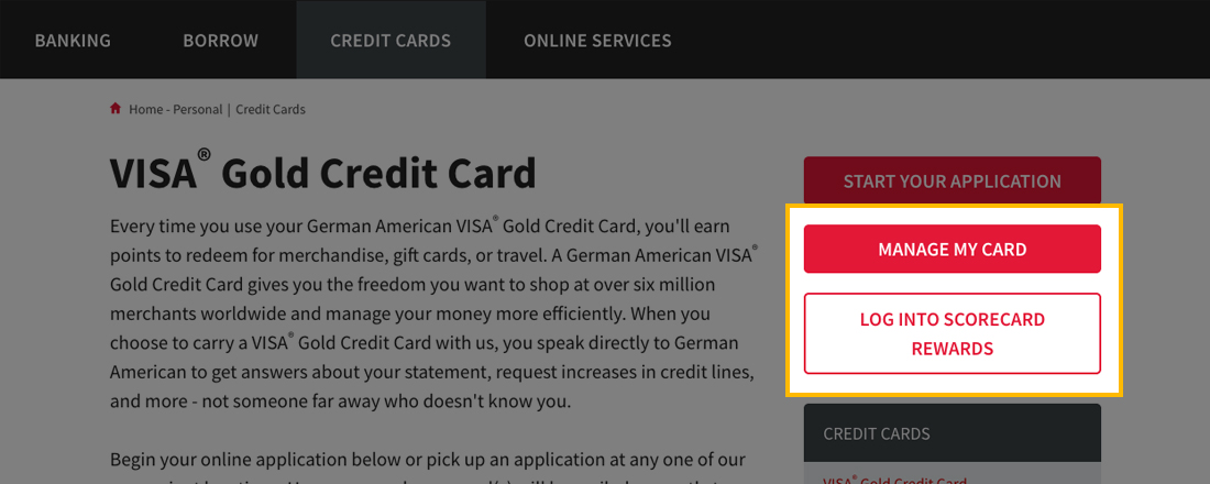 Credit Card slider